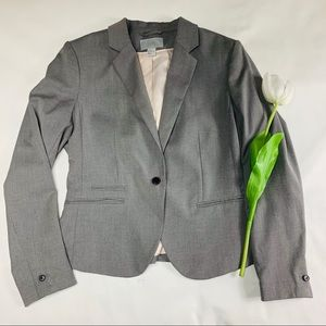 H&M Gray Fitted Blazer PLUS Size
